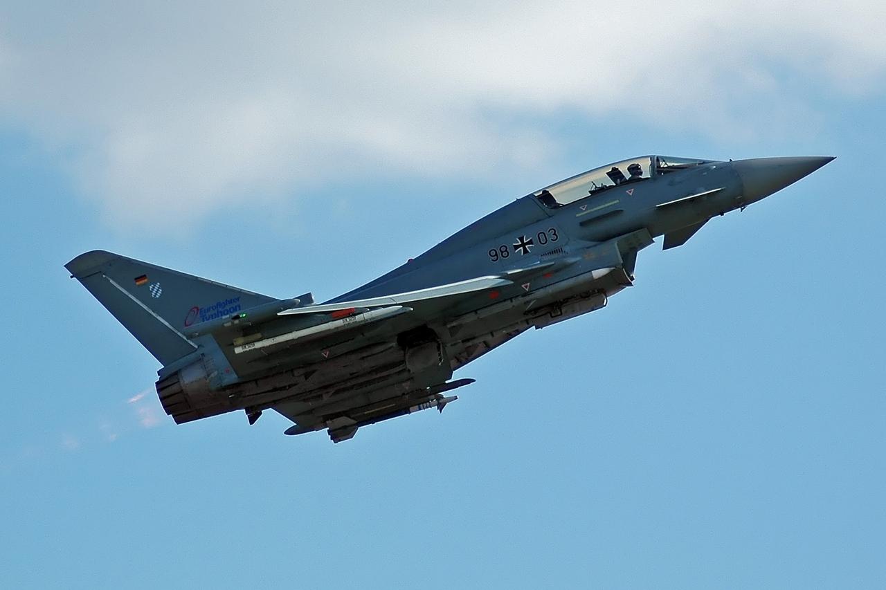 Zweisitziger Eurofighter der Luftwaffe