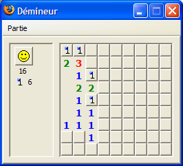 Minesweeper in Firefox (classic mode).