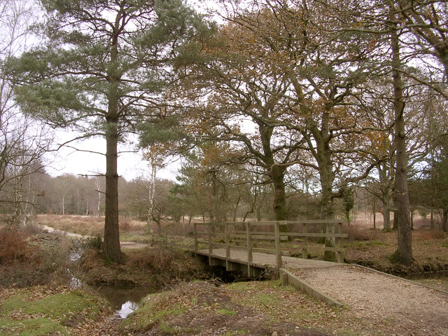 Footbridge over Ober Water south of the Clumber Inclosure, New Forest - geograph.org.uk - 92418