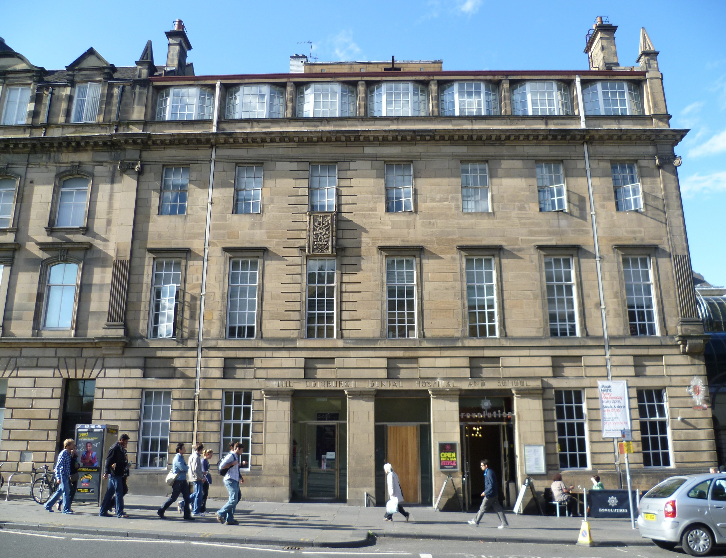 Description former edinburgh dental school, chambers street