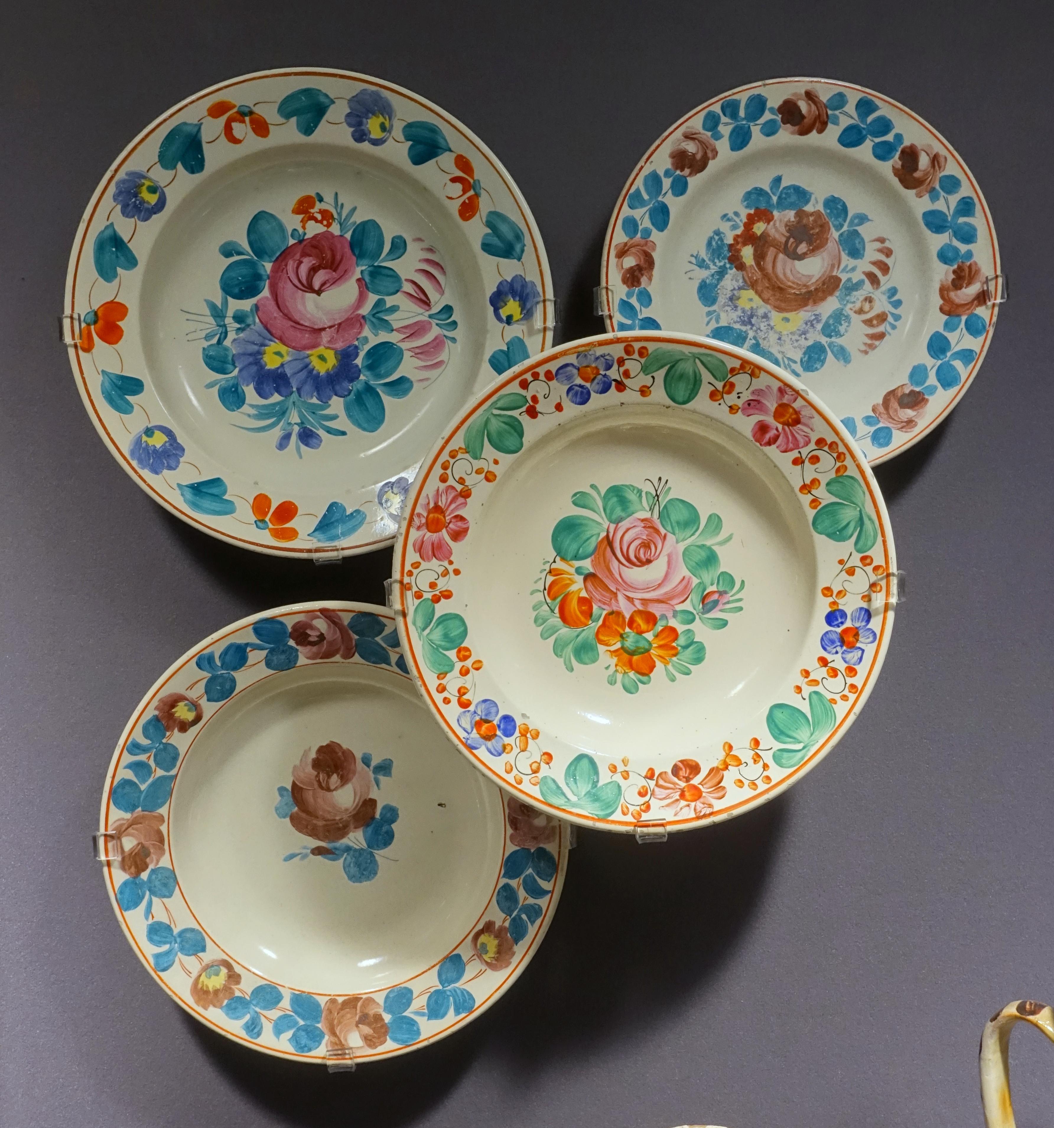 FileFour Plates Hungary Murany Late 1800s Ceramic - Museum Of & Hungarian Dinnerware Sets u0026 Download Artistic Hungarian Handmade ...