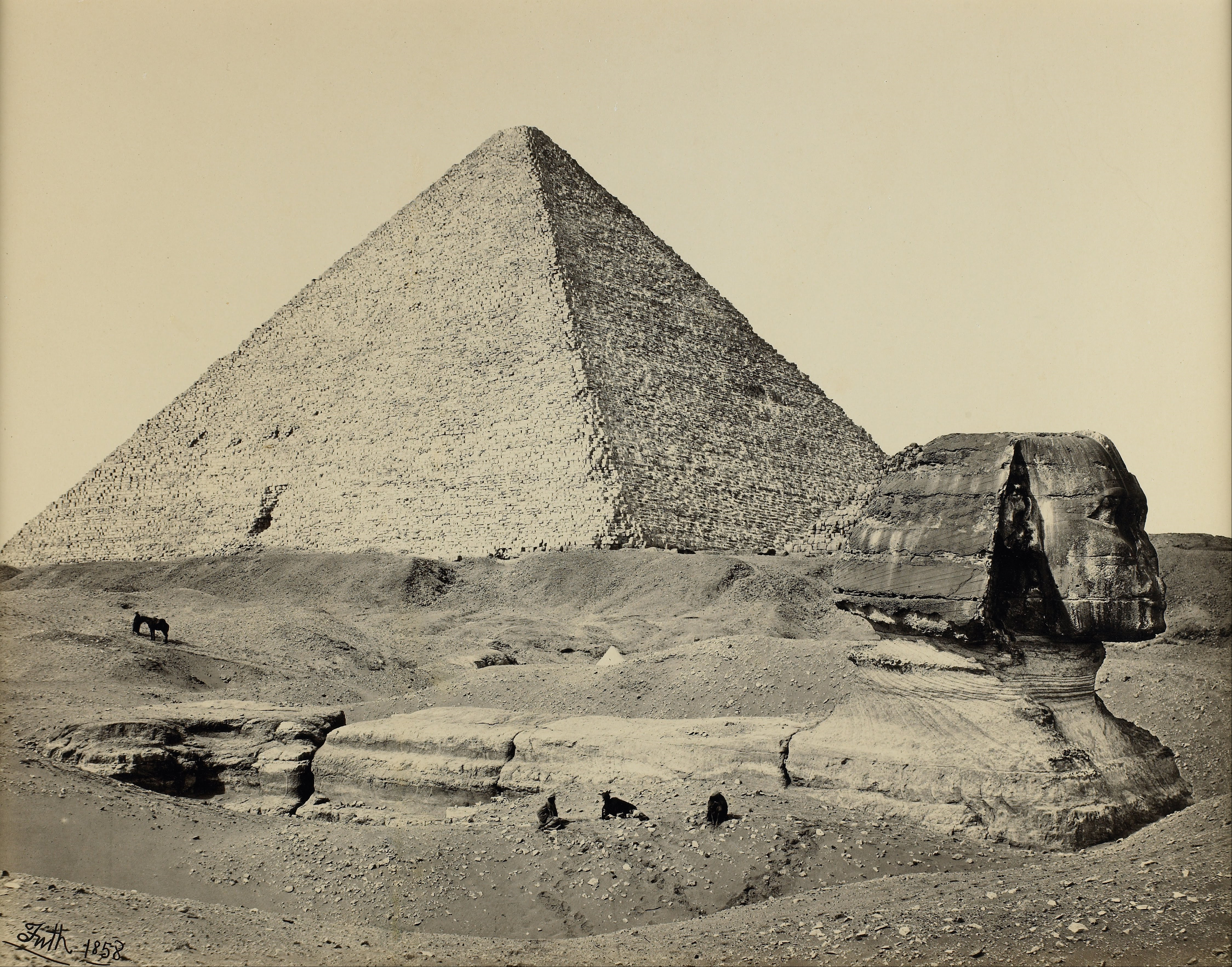 The Great Pyramid and the Great Sphinx, Francis Frith, 1857