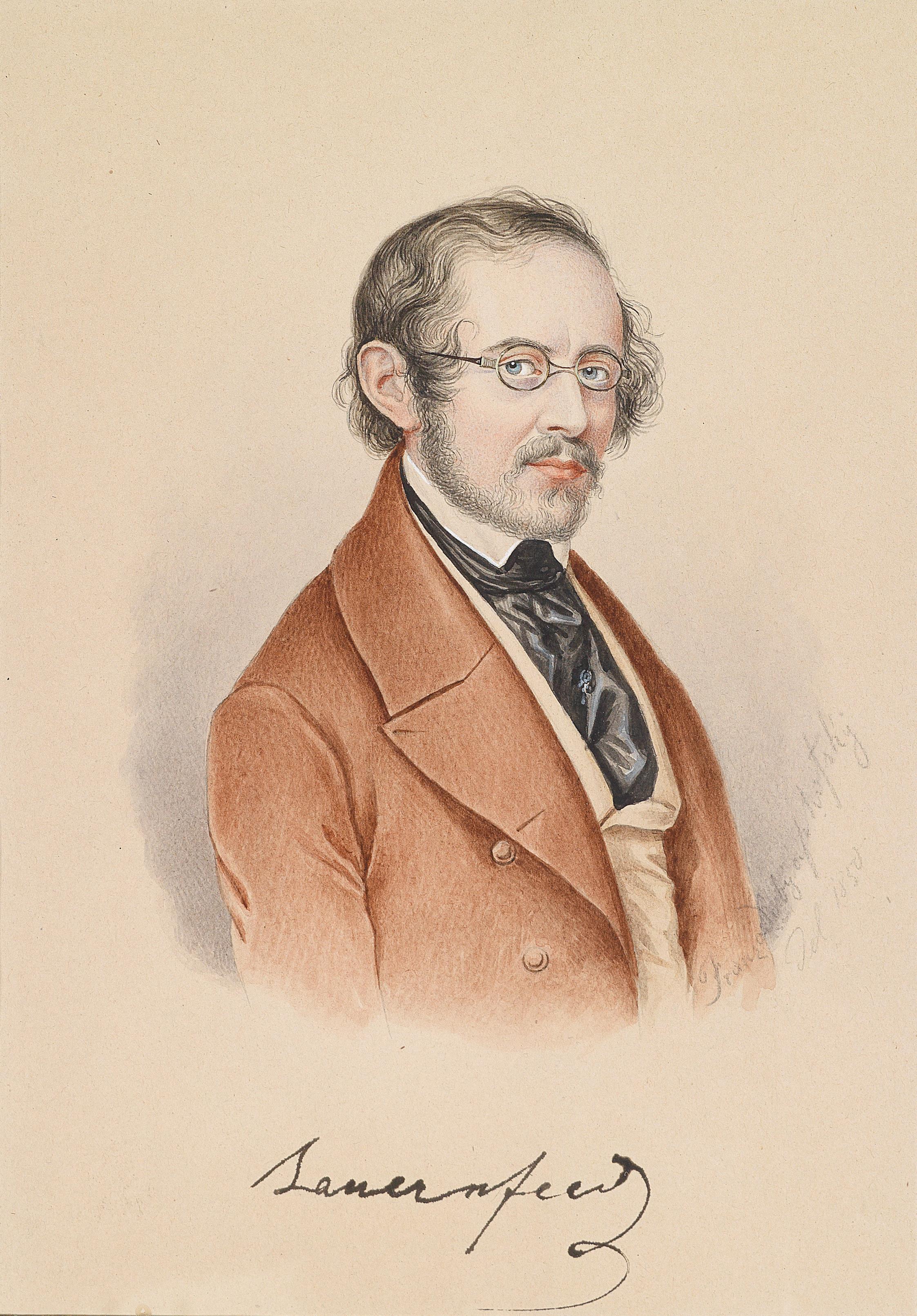 Franz Joseph Dobiaschofsky Porträt Bauernfeld 1850.jpg