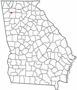Location of Adairsville, Georgia