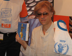 Geldof at a Live 8: DVD signing