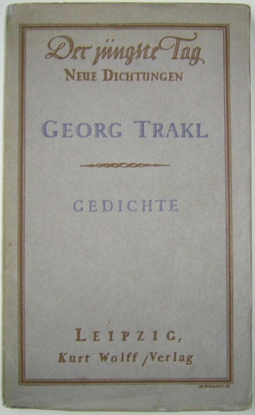 Dateigeorg Trakl Gedichte Erstausgabe 1913 Im Kurt Wolff