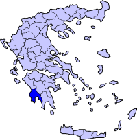 Location of Messinia Prefecture in Greece