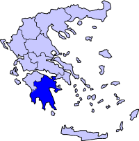 Location of 伯羅奔尼撒 Periphery in Greece