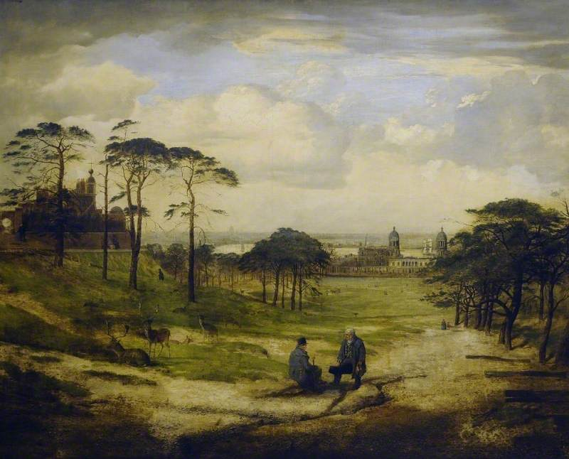 Parc de Greenwich sur une toile de George William Mote (1897).