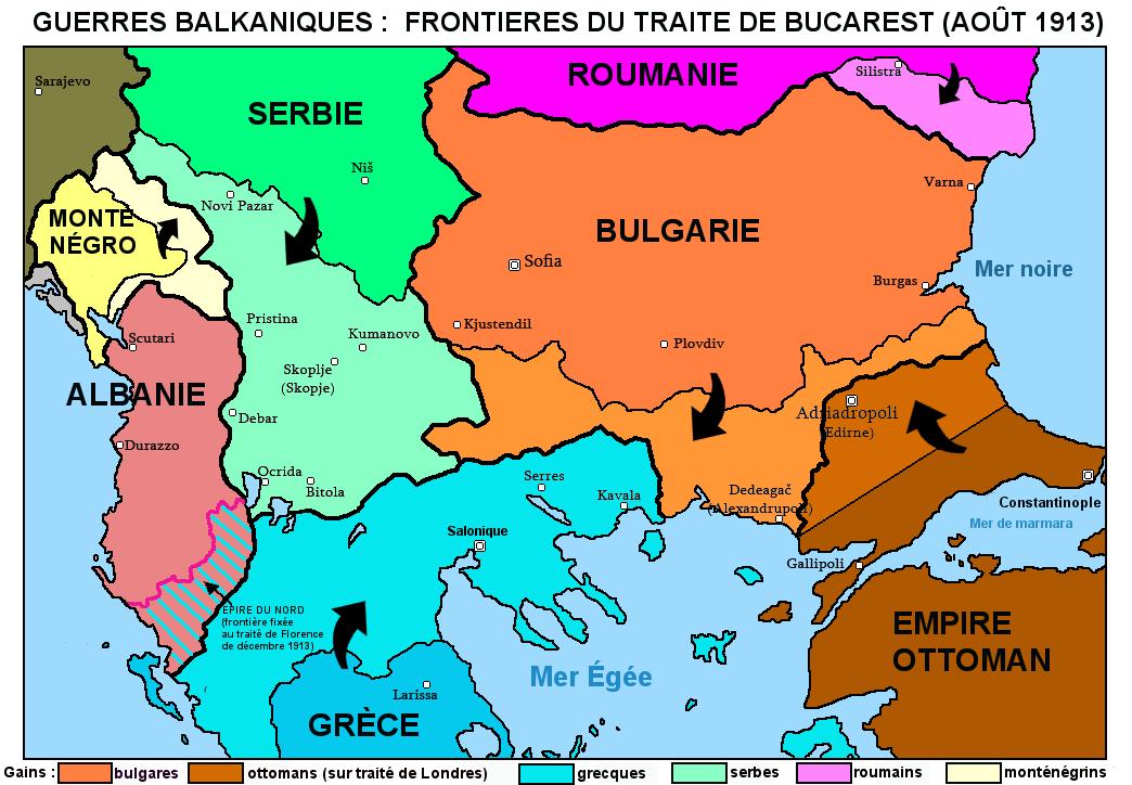Traité de Bucarest (1913) — Wikipédia