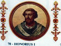 Portrait of Pope Honorius I in the Basilica of...