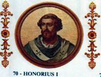 Risultati immagini per papa onorio