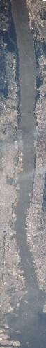 שפך נהר הדסון (תמונת לוויין)