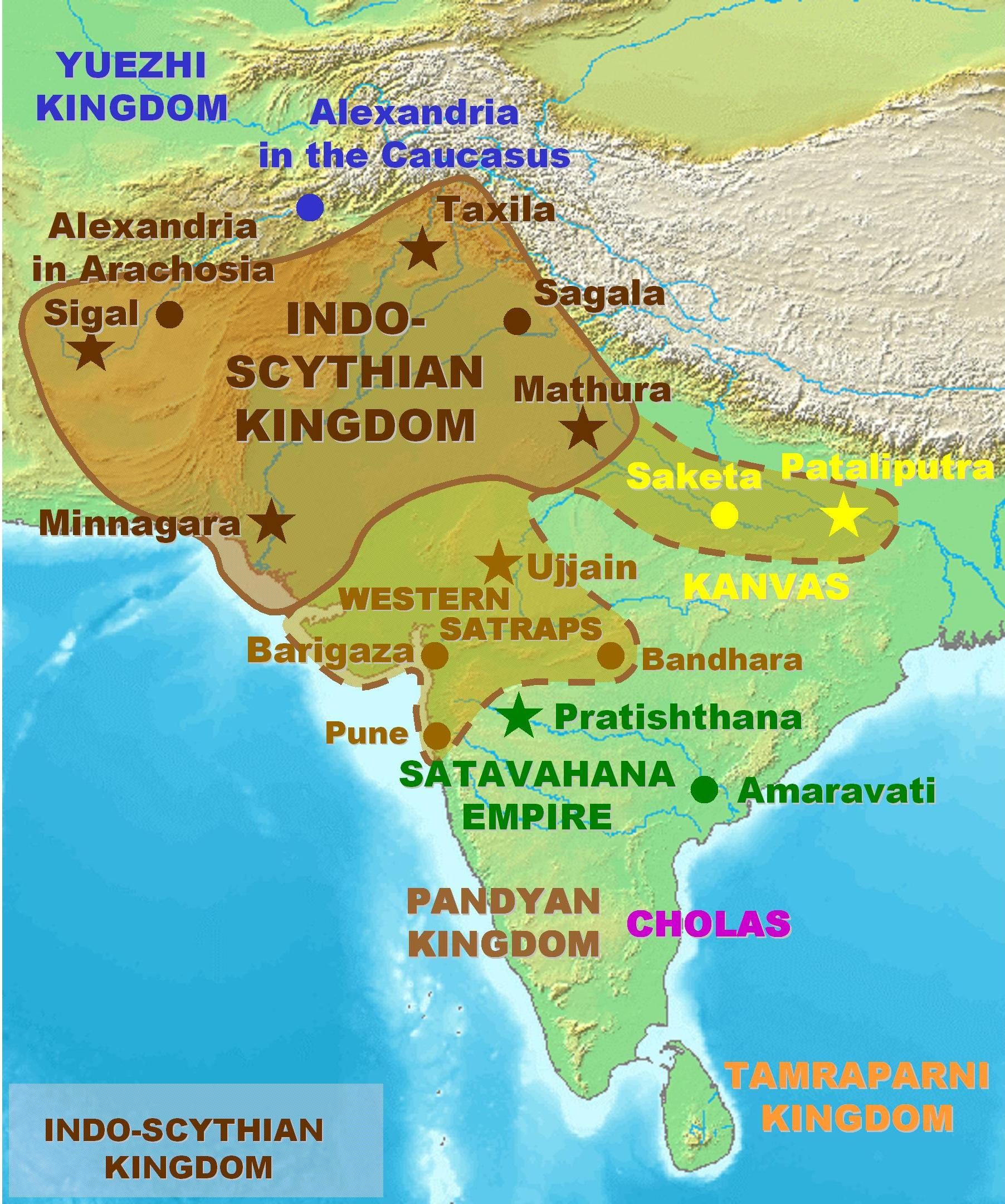 Indo-Scythian Kingdom from Wikipedia