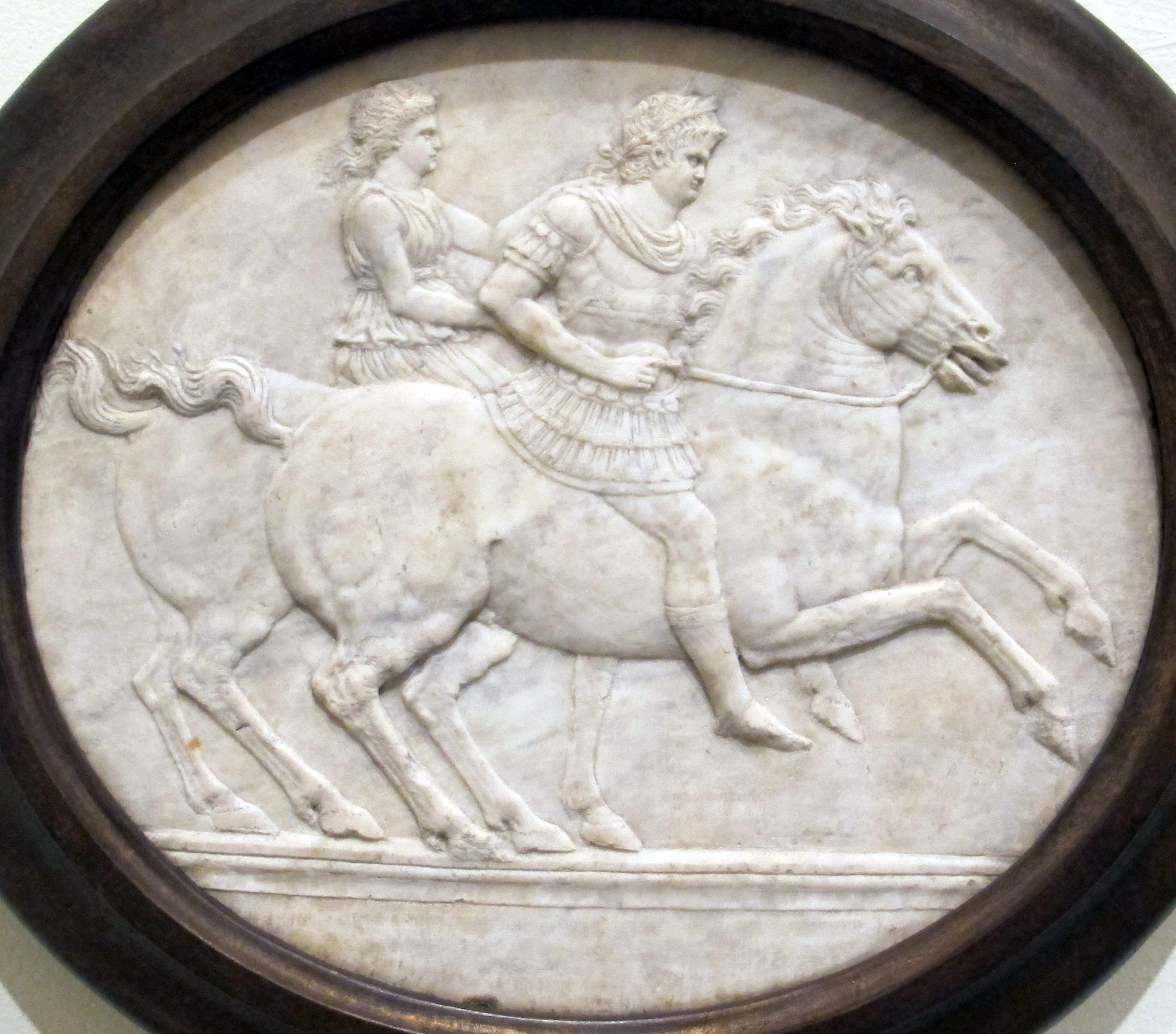 Isaia Da Pisa C Nerone E Poppea A Cavallo C Roma Napoli