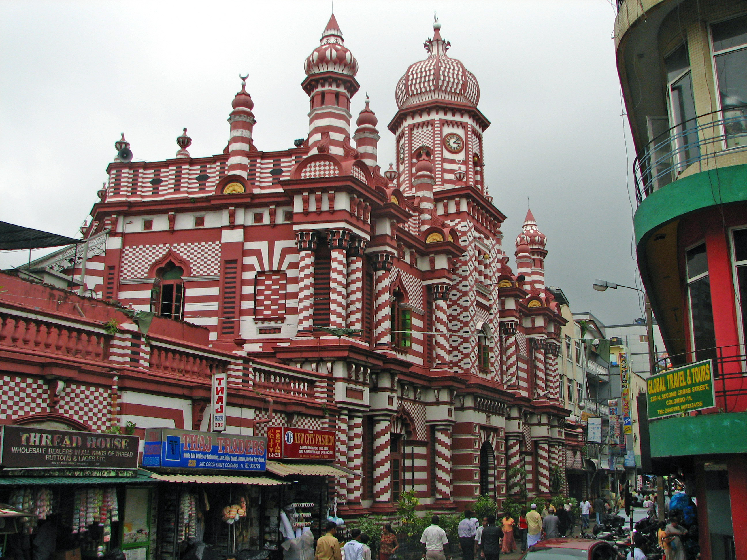 File jami ul alfar mosque wikimedia commons for Pettah market colombo