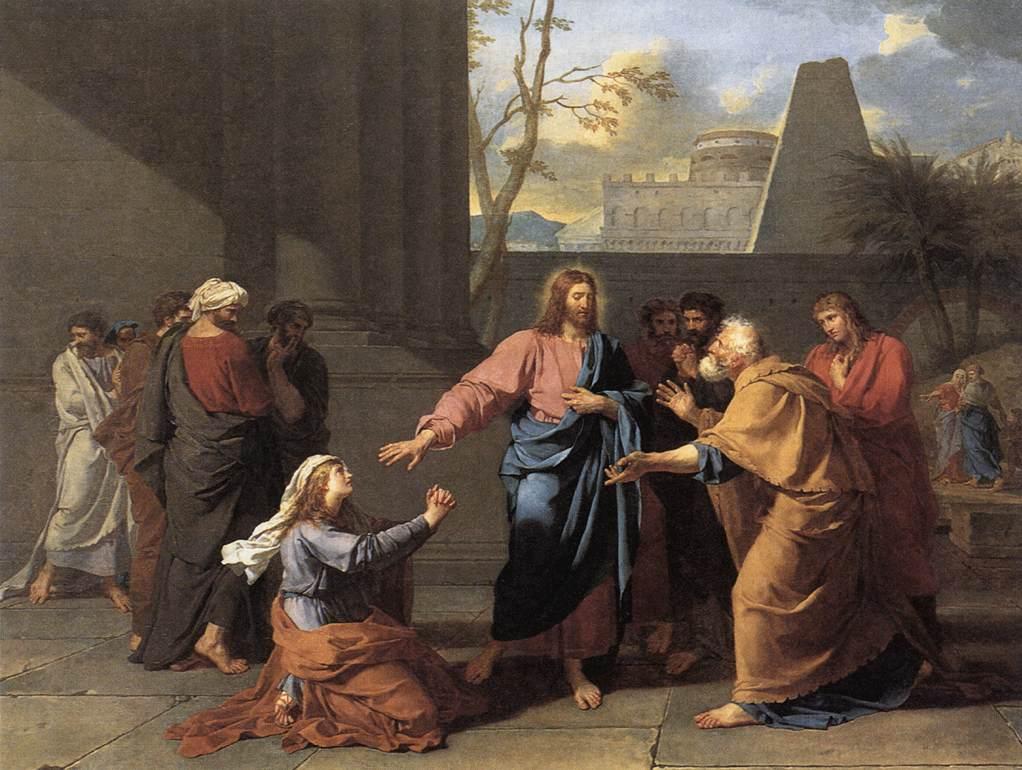 예수님과 가나안 여자 (제르망 장 드로아스, Jean-Germain Drouais, 1784년)