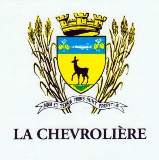 Coat of arm of La Chevrolière, 44, france (2008)