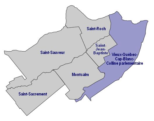Préférence Quartiers et secteurs de la Ville de Québec - Québec local NM99