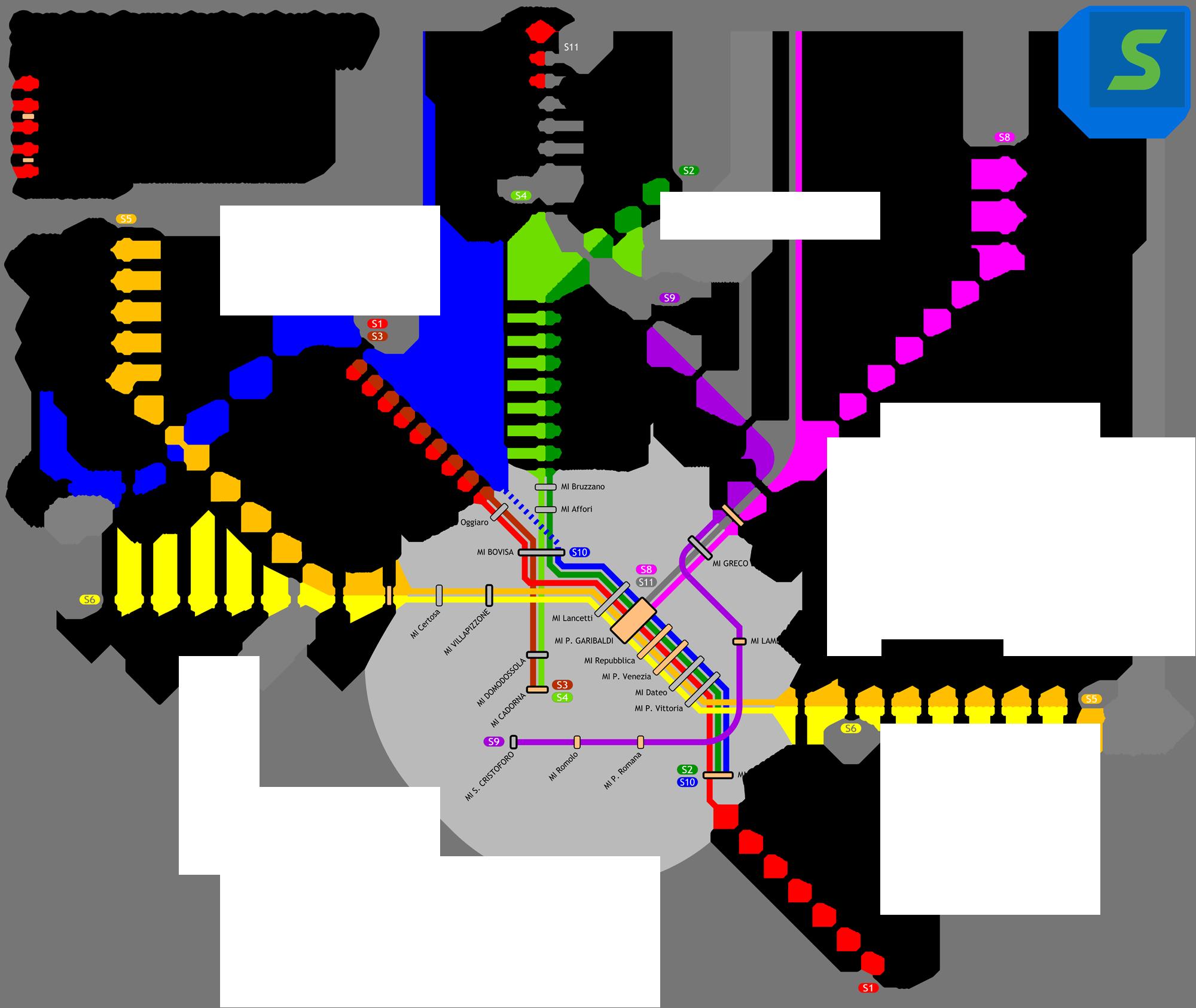 File linee s milano 2010 wikimedia commons - Milano porta garibaldi passante mappa ...