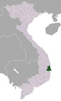 Location of Phú Yên Province
