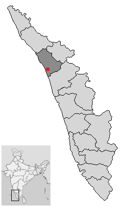 Bestand:Location of Kozhikode Kerala.png