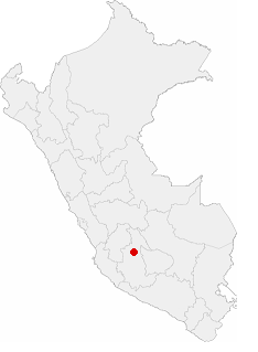 Location of the city of Ayacucho in Peru.png
