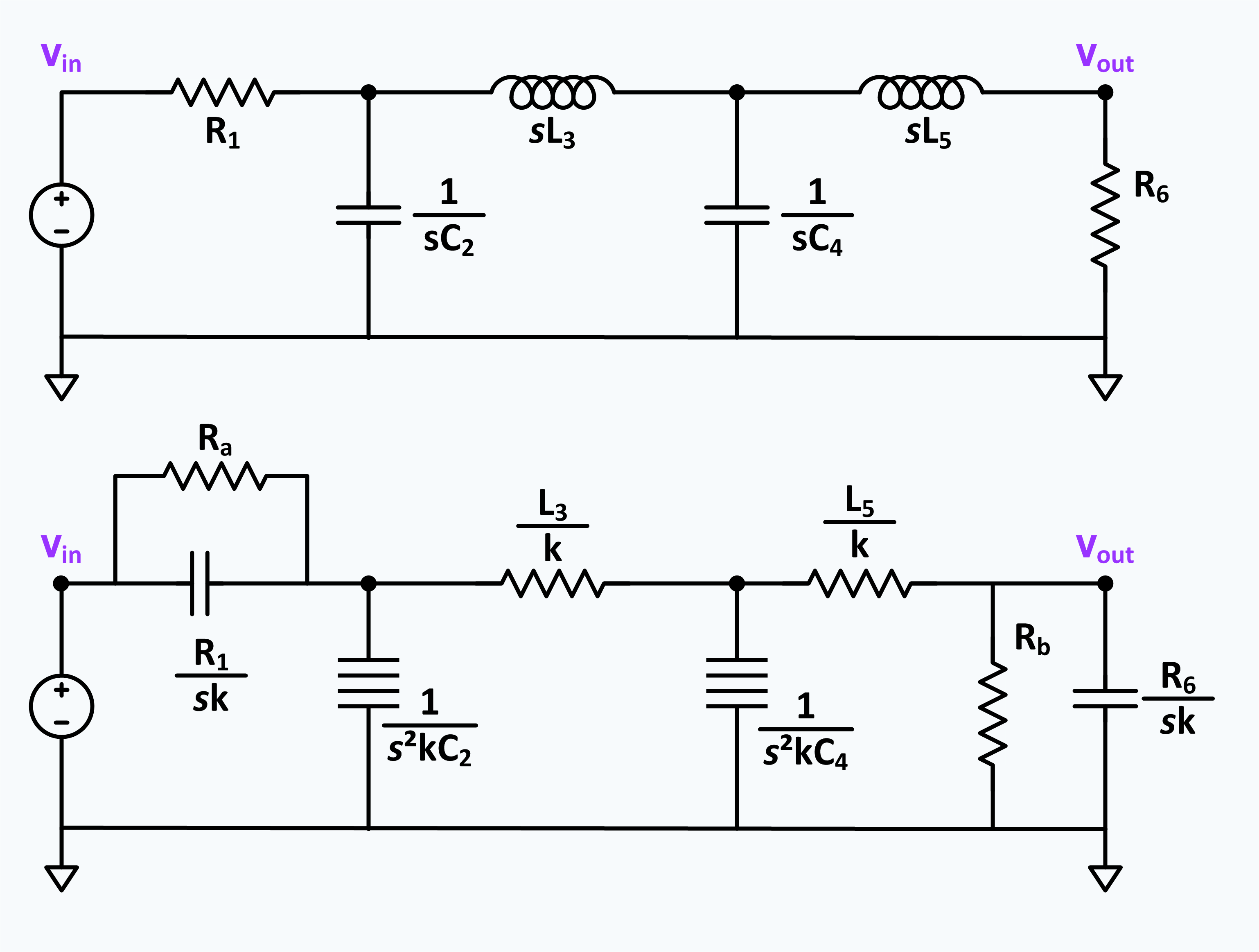 Frequency Dependent Negative Resistor Wikipedia Designing A Network Resistors In Series Low Pass Ladder Filter And An Implementation Using Fdnr Ra Rb Are Added For Practical Reasons