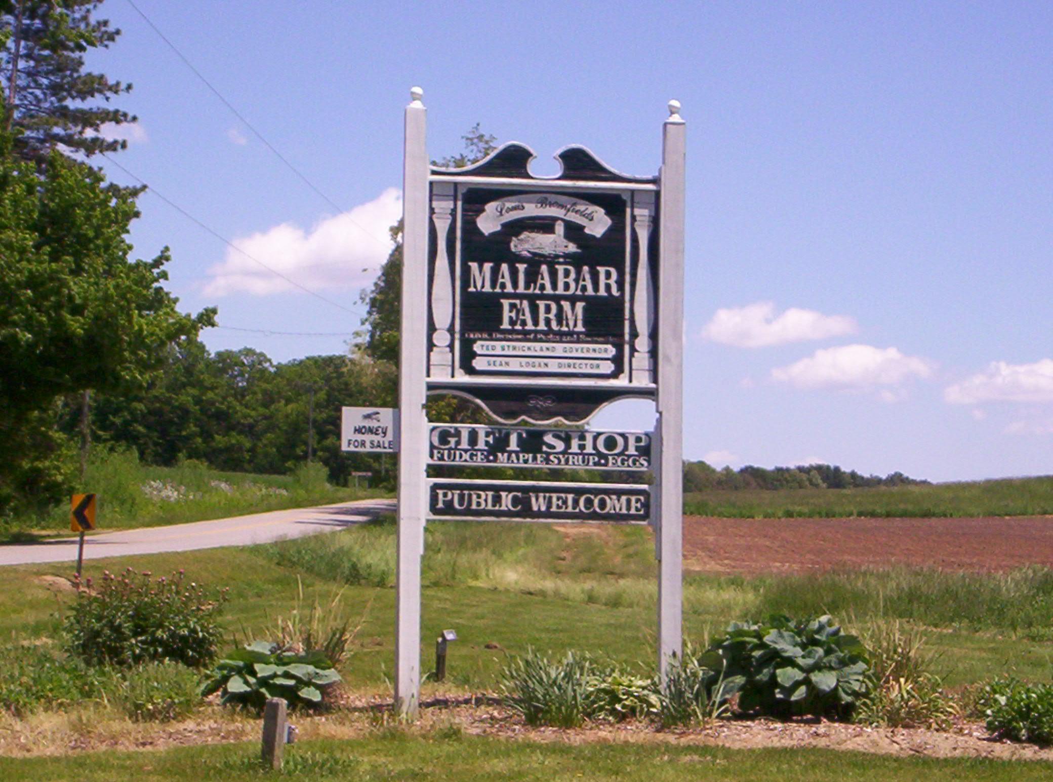 File Malabar Farm Wel e Sign JPG Wikimedia mons