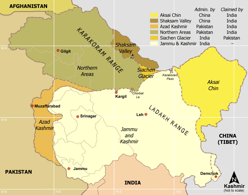 Political division of Kashmir