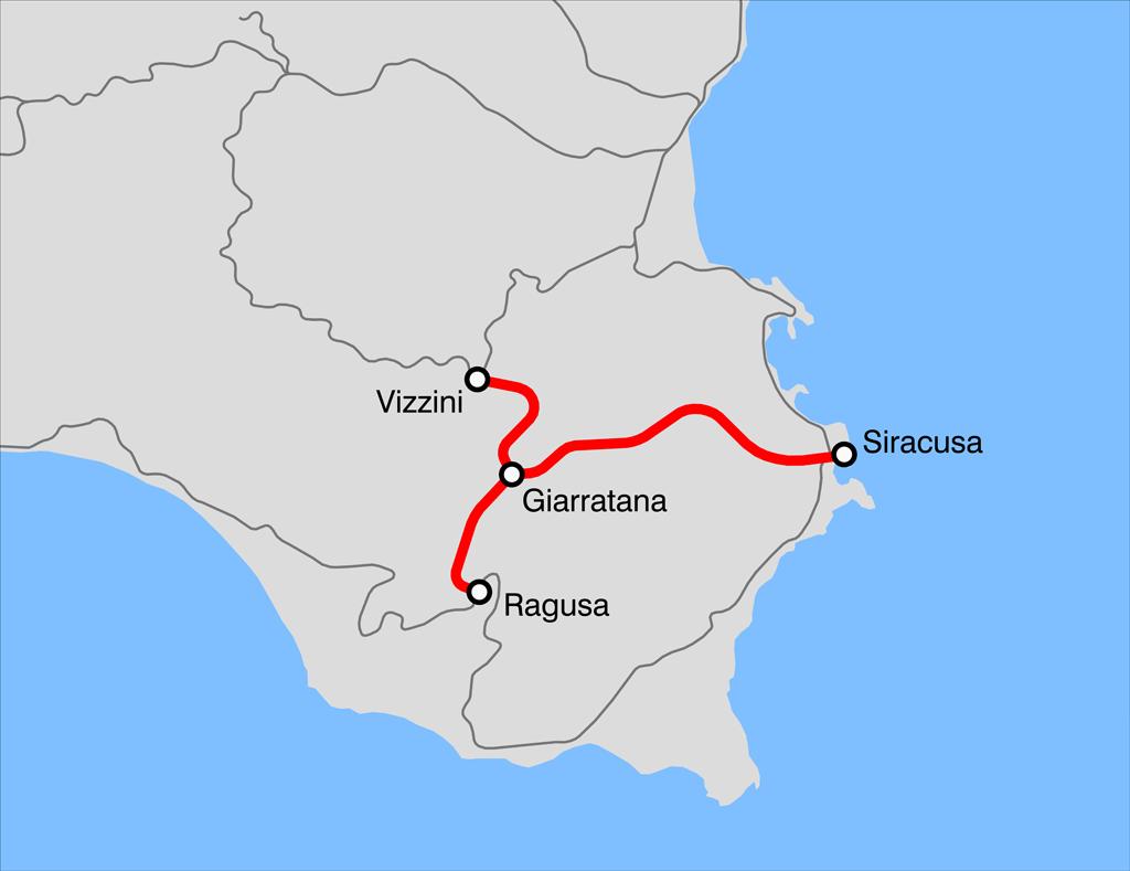 Cartina Ferroviaria Sicilia.Ferrovia Siracusa Ragusa Vizzini Wikipedia