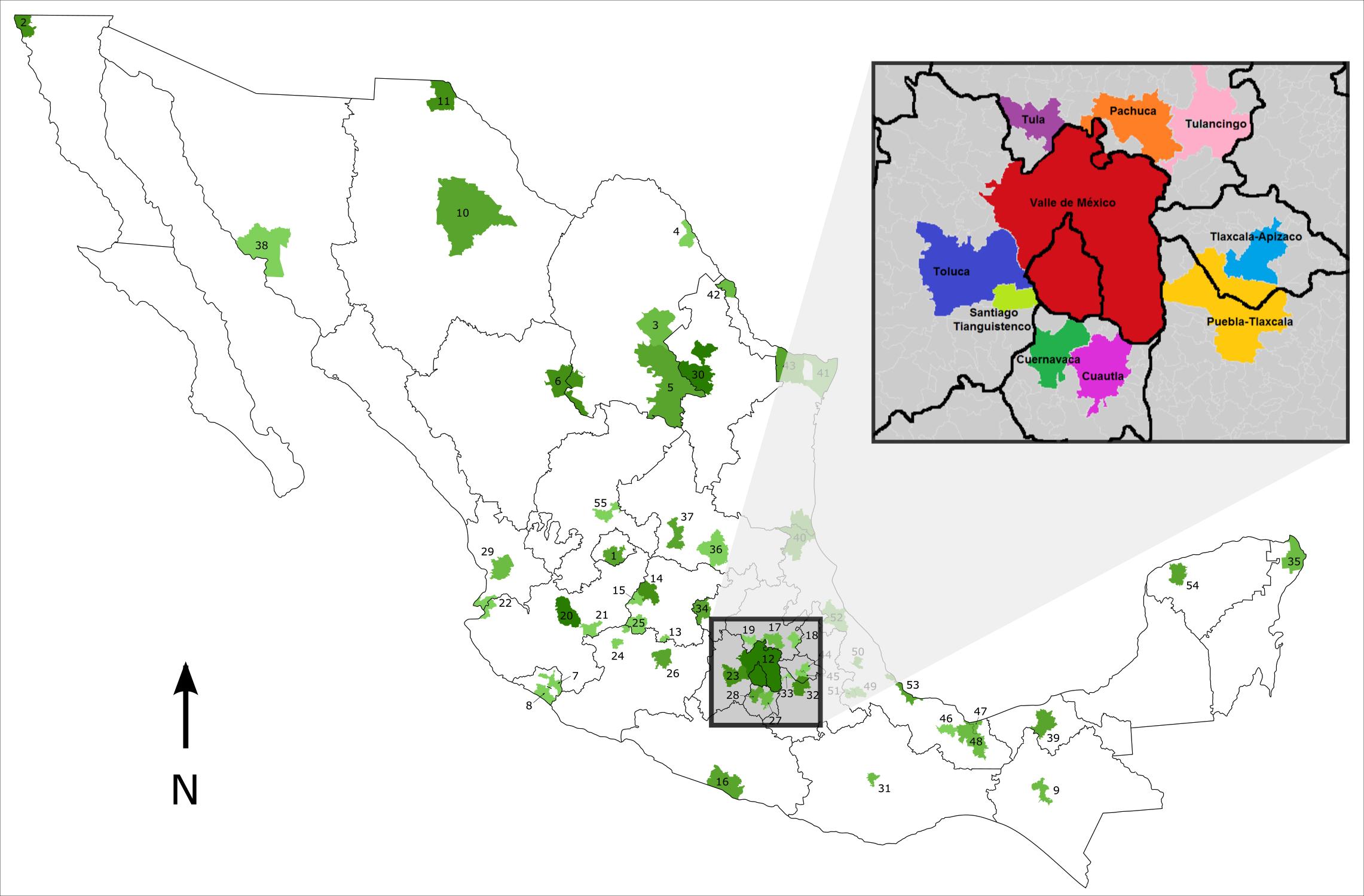 Corona Regional Del Centro De Mexico Wikipedia La Enciclopedia Libre