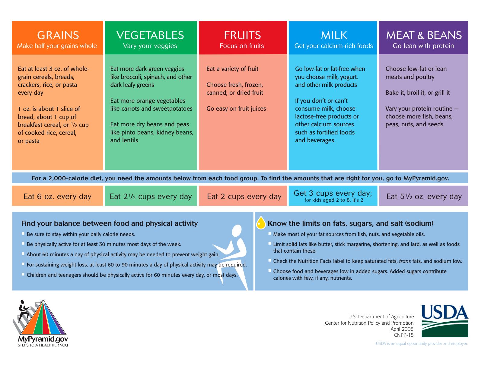 Food Pyramid Lesson Plans High School