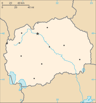North Macedonia-CIA WFB Map-Blank with city locations.png