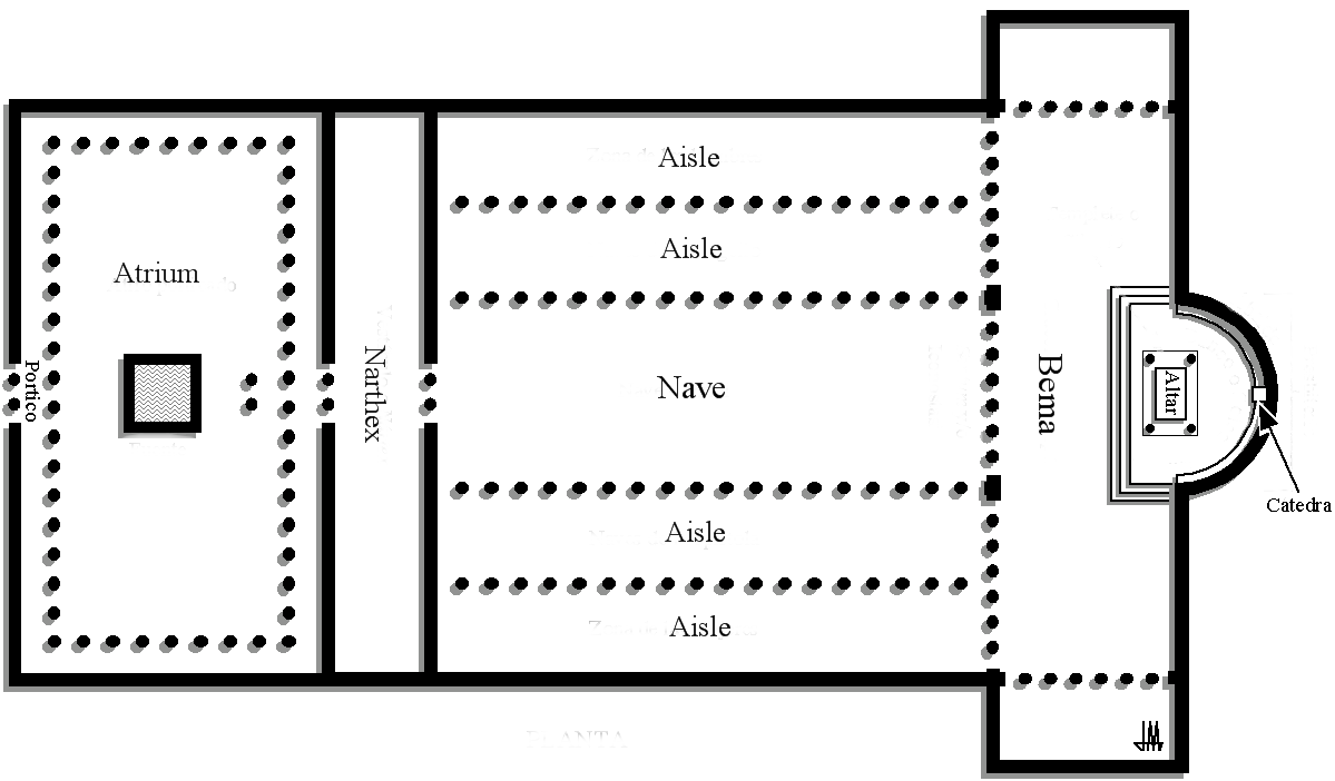 Description Old St Peters Basilica plan.png