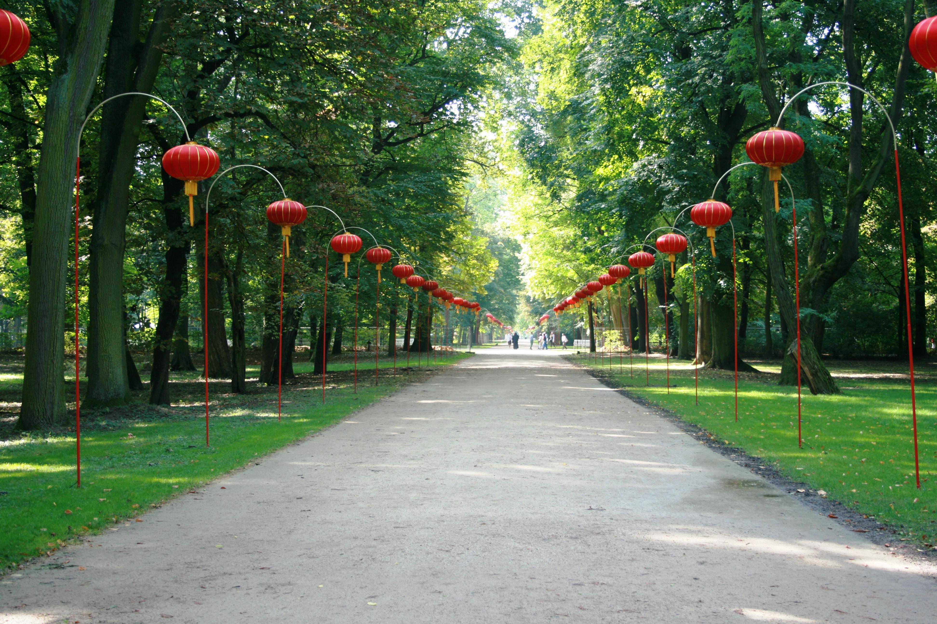 Plikpl Warsaw łazienki Chinese Avenue During Iii Lantern