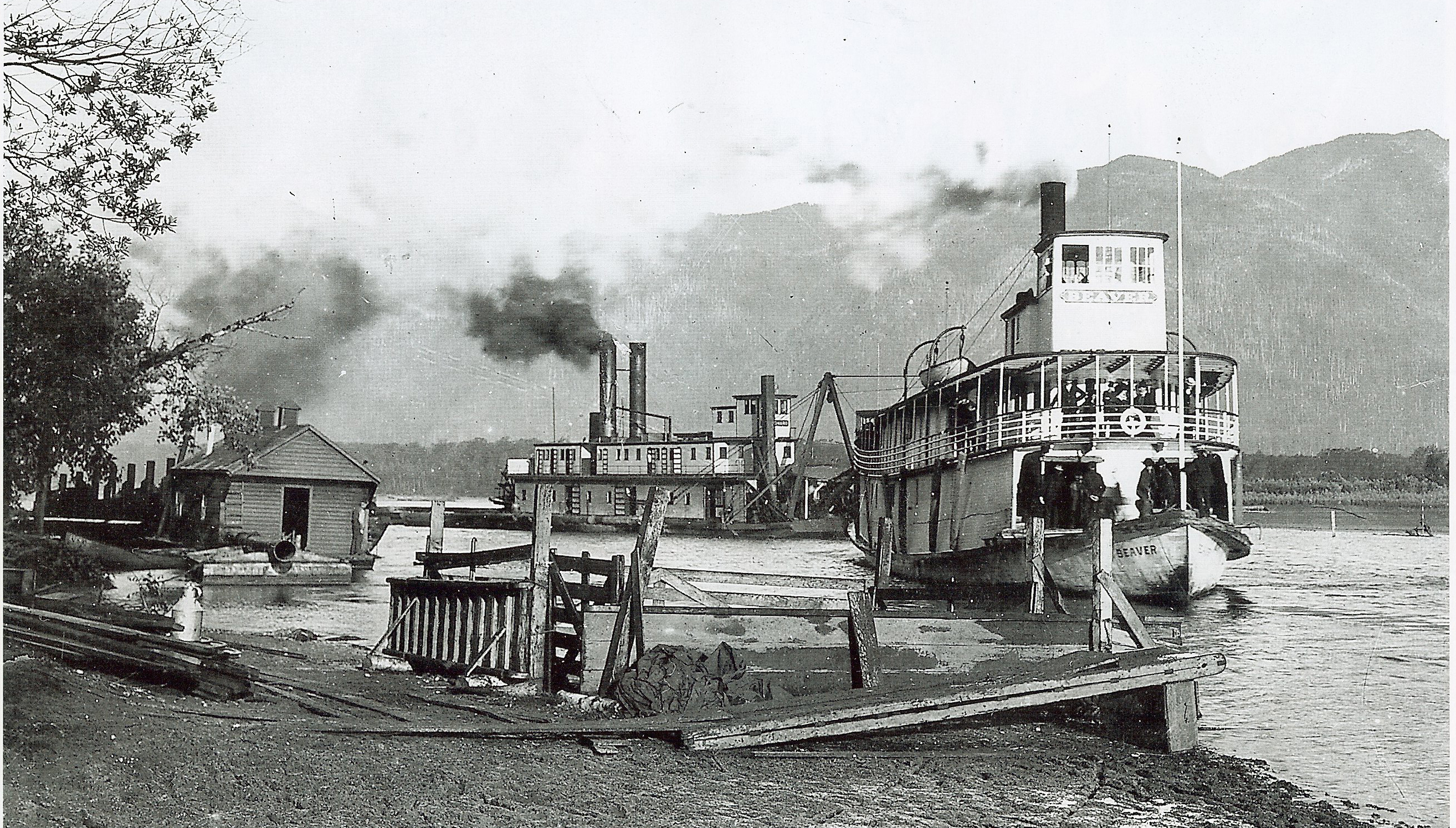 file paddlewheelers at chilliwack landing near the present day end