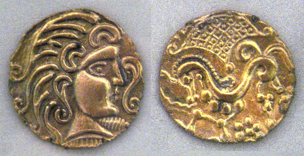 Gold coins minted by the Parisii (1st century BC)