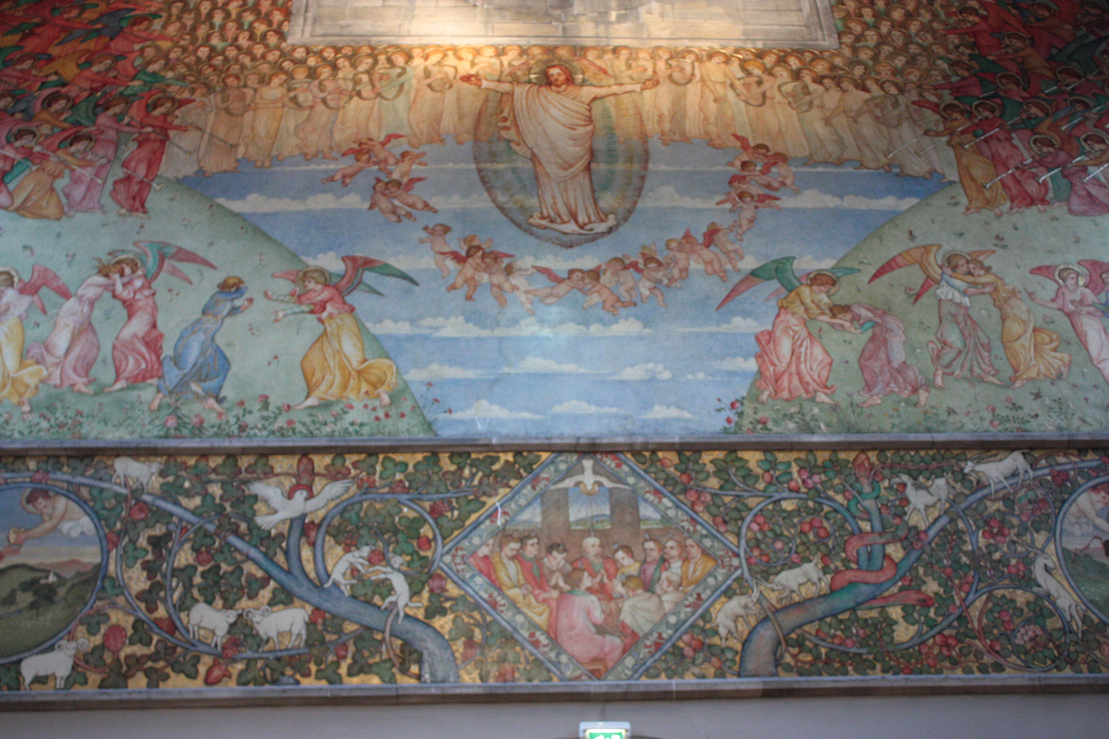 File:Phoebe Traquair's murals, Catholic Apostolic Church, Edinburgh