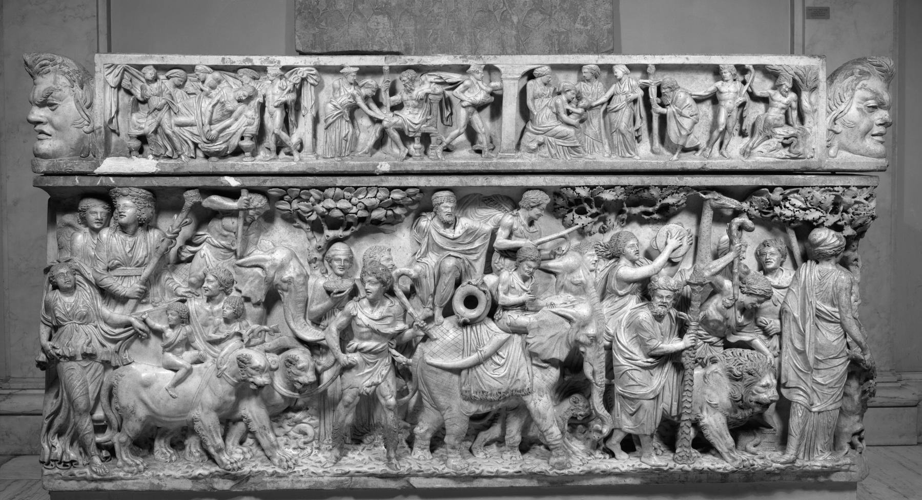 sarcophagus with the triumph of dionysis The triumph of dionysos in constantinople: a late fifth-century mosaic in context, dumbarton oaks papers 69 (2015): 15-48 on the group of late antique textile triumph of dionysus on.
