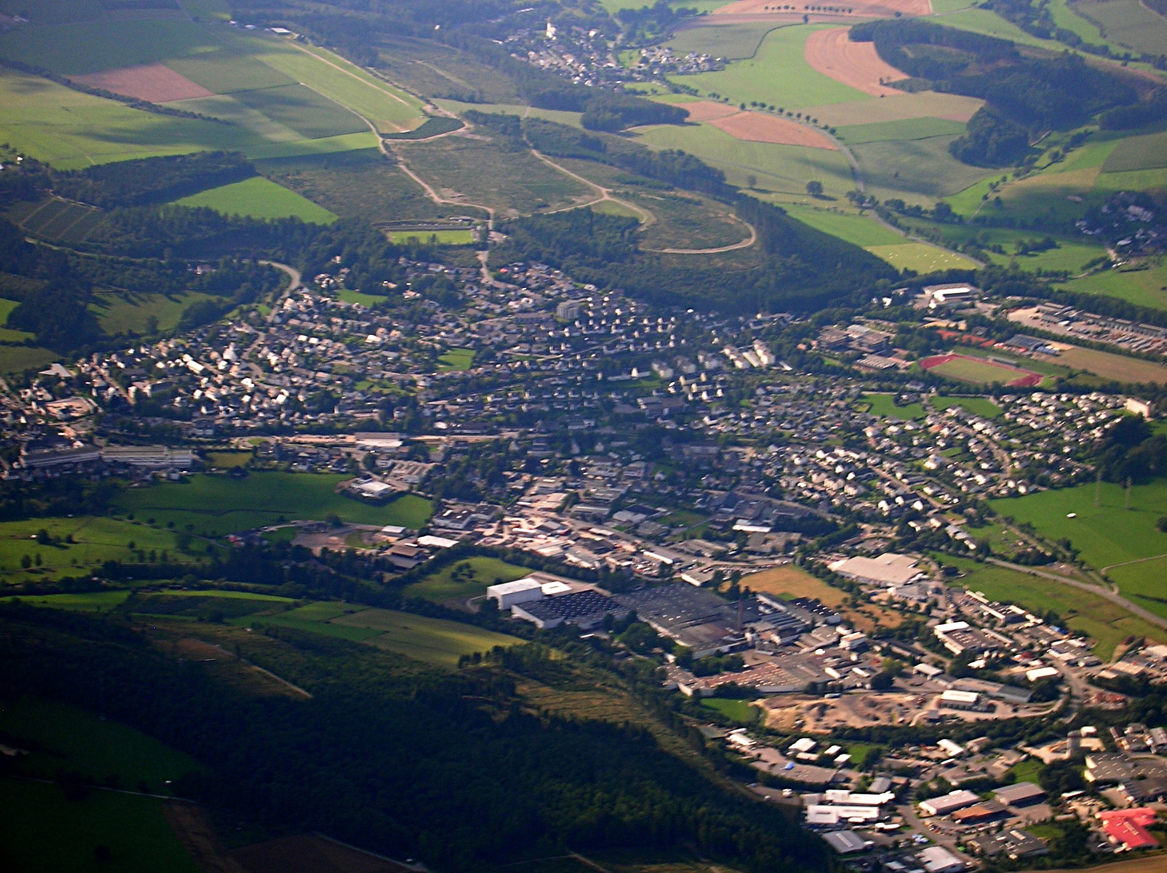 Schmallenberg Germany  city pictures gallery : Schmallenberg Oberstadt from above Wikimedia Commons