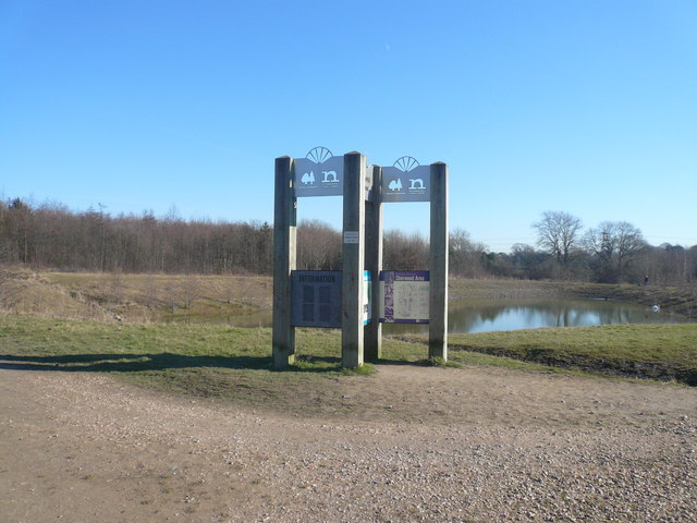 Silverhill Wood Country Park - Pond View - geograph.org.uk - 688233