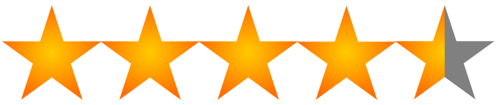 Image result for 4.5 star rating