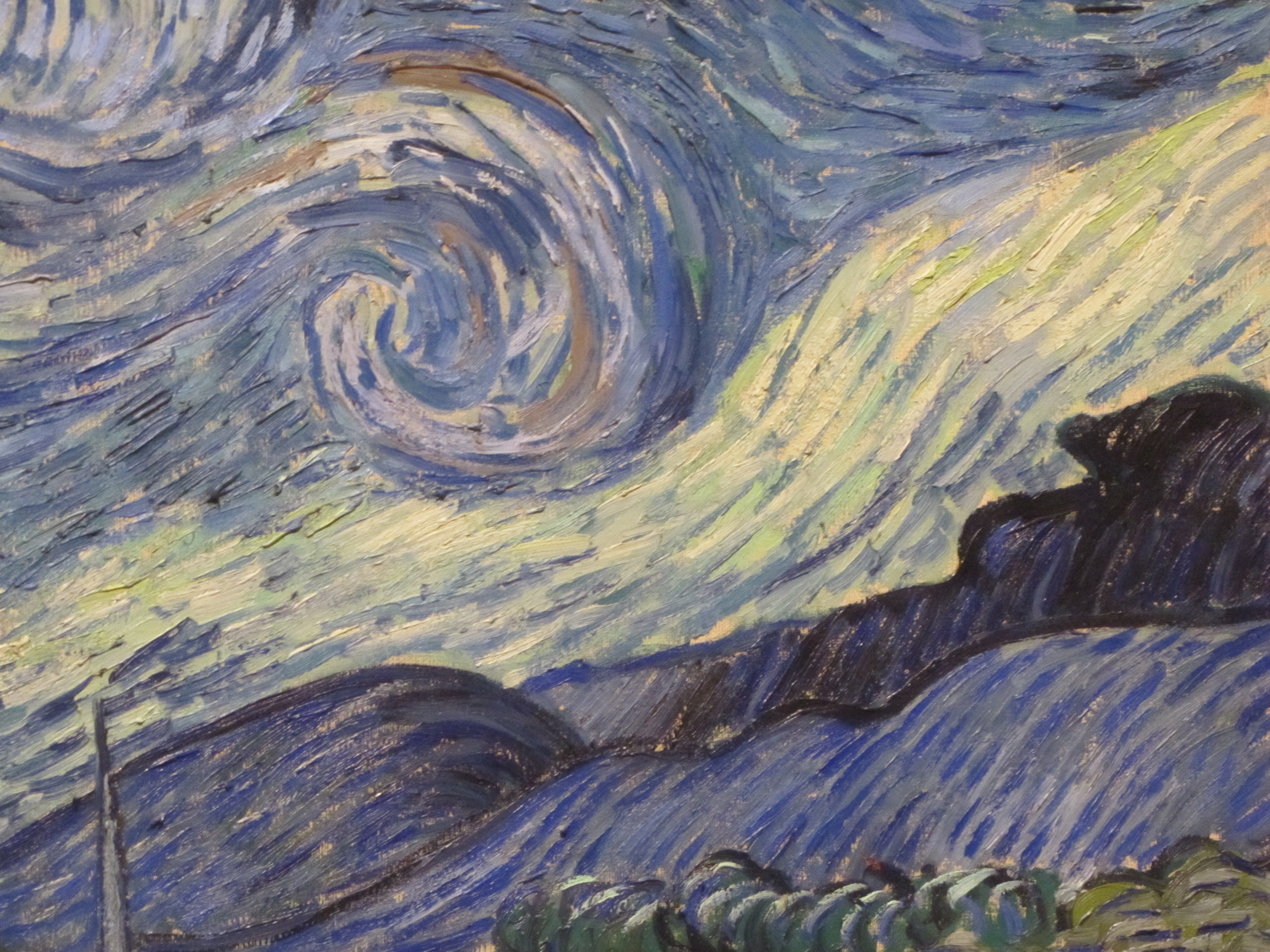 Afbeeldingsresultaat voor Van Gogh //  mountain night road painting //  hills and sky