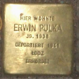 Stolperstein Bernstorffstr 99 Erwin Pulka.jpg