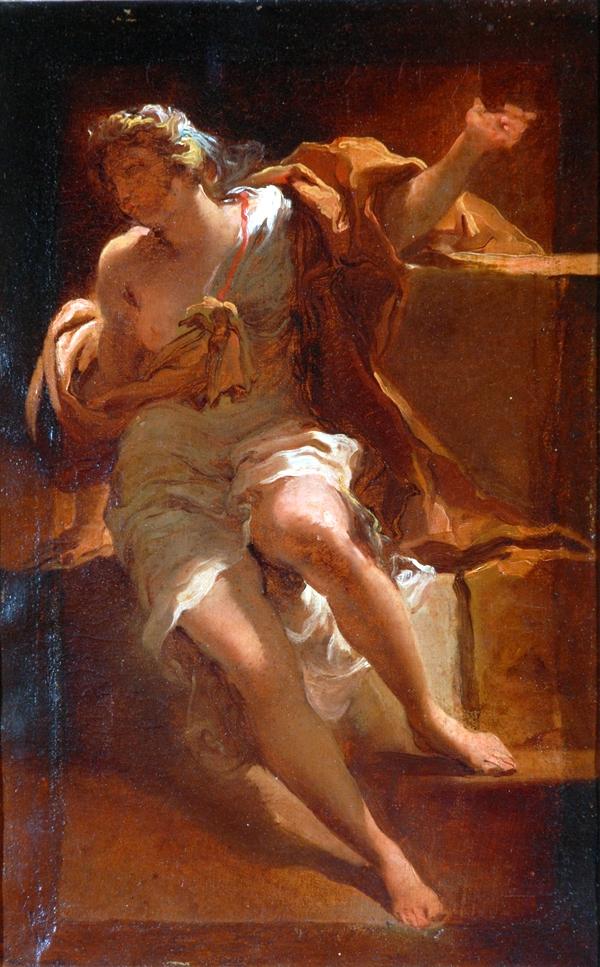 FileStudy Of A Female Figure Oil On Paper Painting By Gaetano Gandolfi