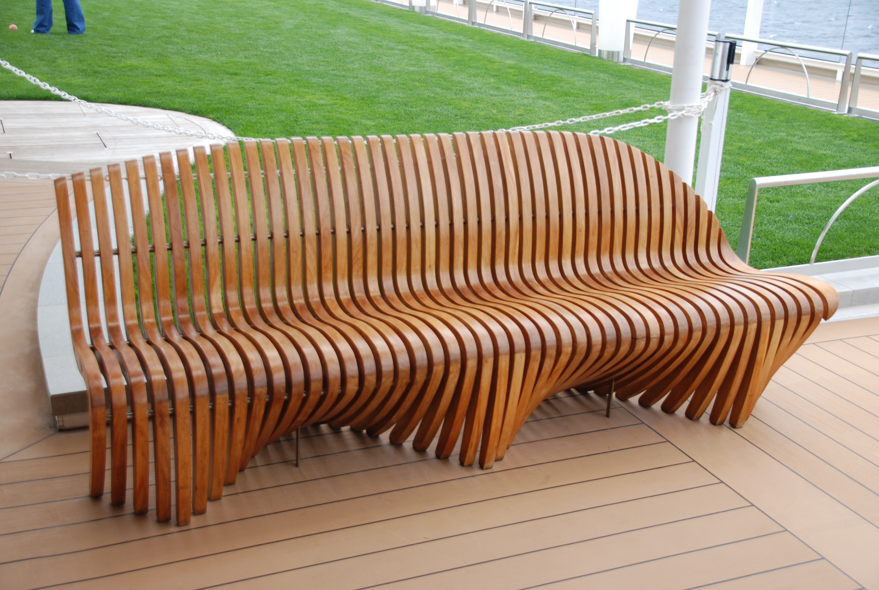 File:Teak Deck Chair Aboard The Celebrity Equinox On A Transatlantic Cruise  (6690586571)