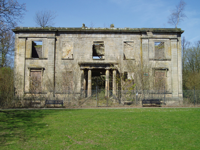 The ruins of Plean House - geograph.org.uk - 160341
