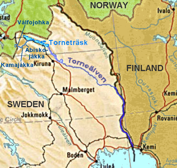 Depiction of Frontera terrestre entre Finlandia y Suecia