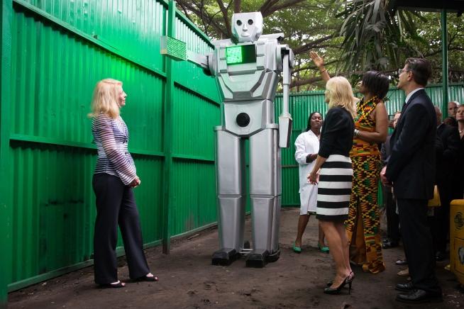 traffic robots in kinshasa